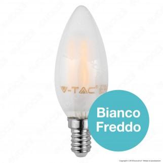 V-Tac VT-1936 Lampadina LED E14 4W Candela Frost Filamento - SKU 4474 / 4475 / 4476
