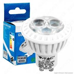 V-Tac VT-2828 Lampadina LED GU10 7W Faretto Spotlight 38° - SKU 1633 / 1634 / 1635