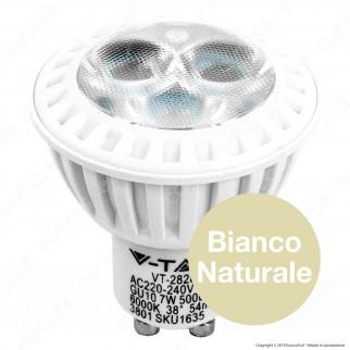 V-Tac VT-2828 Lampadina LED GU10 7W Faretto Spotlight - SKU 1633 / 1634 / 1635