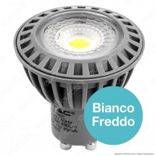 V-Tac VT-1860 D Lampadina LED GU10 6W Faretto Spotlight Dimmerabile - SKU 1627 / 1643 / 1644