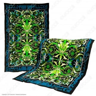 Black Leaf Telo Decorativo da Muro in Cotone - Big Leaf