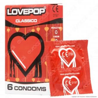 Preservativi Pop Filters LovePop - Scatola 6 pezzi