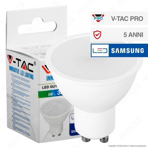 V-Tac PRO VT-205 Lampadina LED GU10 5W Faretto Spotlight Chip Samsung - SKU 201