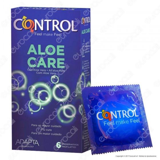 Preservativi Control Aloe Care - Scatola da 6 Profilattici