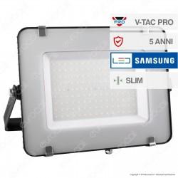 V-Tac PRO VT-150 Faro LED SMD 150W Ultrasottile Chip Samsung da Esterno Colore Grigio - SKU 477