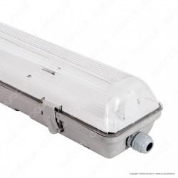 Life Plafoniera Singola Impermeabile per Tubi LED T8 da 150cm