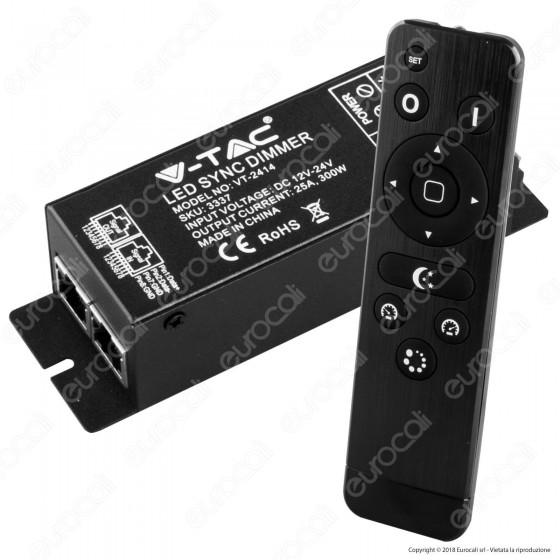 V-Tac VT-2414 Controller Dimmer Sync Connesione RJ45 per Strisce LED con Telecomando - SKU 3337