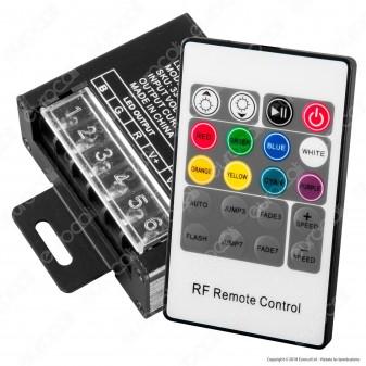 V-Tac VT-2421 Controller Dimmer Sync Connesione RJ45 per Strisce LED RGB con Telecomando - SKU 3340