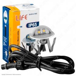 Life Punto Luce LED 1W Segnapasso da Interramento in Zinco - mod. 39.9PL0136C