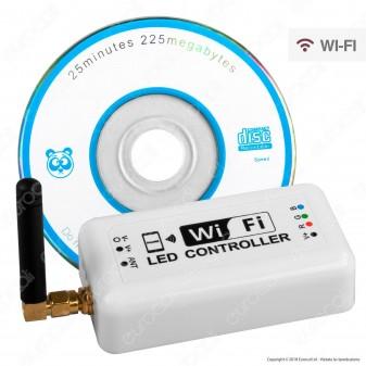 V-Tac Wi-Fi Controller Dimmer per Strisce LED RGB con Telecomando - SKU 3322