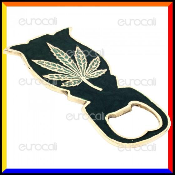 Black Leaf Apri Bottiglie in Metallo Dorato [INVISIBILE]