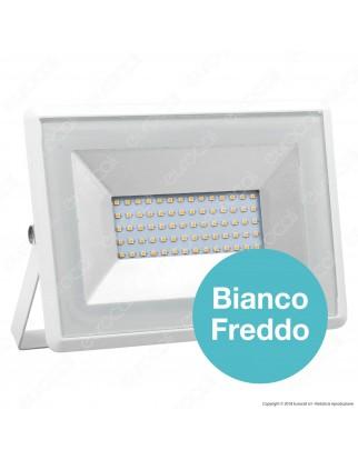 V-Tac VT-4051 E-Series Faro LED SMD 50W Ultra Sottile da Esterno Colore Bianco - SKU 5961 / 5962 / 5963