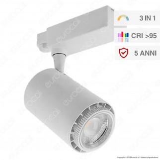 V-Tac VT-4745 Track Light LED COB 45W 3 Step Changing Color CRI95 Dimmerabile Bianco - SKU 1412 / 1413