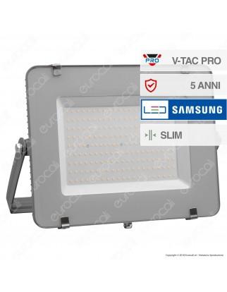 V-Tac PRO VT-200 Faro LED SMD 200W Ultrasottile Chip Samsung da Esterno Colore Grigio - SKU 485