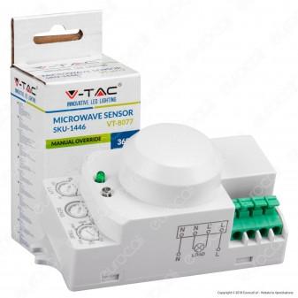 V-Tac VT-8077 Sensore di Movimento a Microonde per Lampadine - SKU 1446