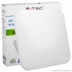 V-Tac VT-8076 Plafoniera LED 32W Forma Quadrata Colore Bianco - SKU 1445