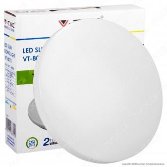 V-Tac VT-8073 Plafoniera LED 14W Forma Rotonda Colore Bianco - SKU 1429