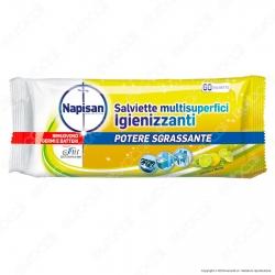 Napisan Wipes Salviette Multisuperfici Igienizzanti Limone e Menta - Confezione da 60 Salviette