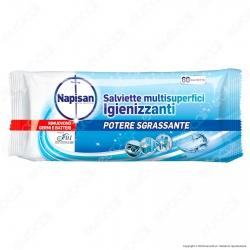 Napisan Wipes Salviette Multisuperfici Igienizzanti Fresh - Confezione da 60 Salviette