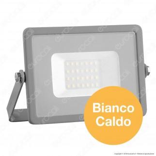 V-Tac PRO VT-20 Faro LED SMD 20W Ultrasottile Chip Samsung da Esterno Colore Grigio - SKU 445 / 447