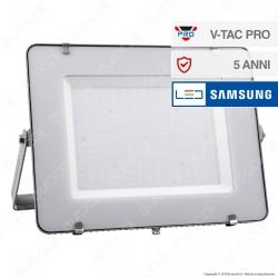 V-Tac PRO VT-300 Faro LED SMD 300W Ultrasottile Chip Samsung da Esterno Colore Grigio - SKU 488 / 489