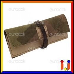 Il Morello Portacartine in Vera Pelle Colore Mimetico Sabbia e Marrone Fatto a Mano