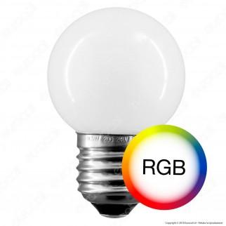 Duralamp Lampadina LED E27 0,5W MiniGlobo G45 RGB