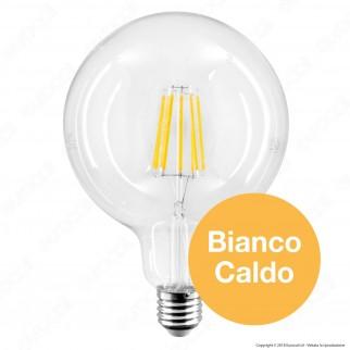 Life Lampadina LED E27 11W Globo G125 Milky Filamento
