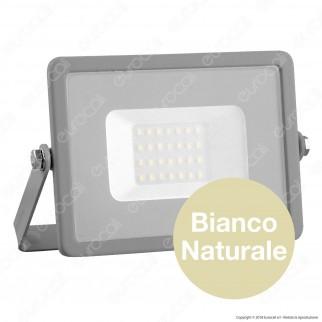 V-Tac PRO VT-20 Faro LED SMD 20W Ultrasottile Chip Samsung da Esterno Colore Grigio - SKU 445 / 446 / 447