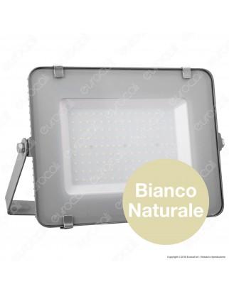 V-Tac PRO VT-150 Faro LED SMD 150W Ultrasottile Chip Samsung da Esterno Colore Grigio - SKU 482 / 483