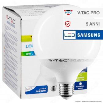 V-Tac PRO VT-218 Lampadina LED E27 17W Globo G120 Chip Samsung - SKU 226 / 227