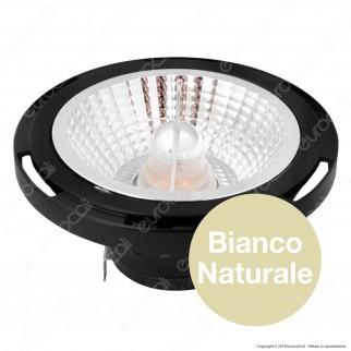 Marino Cristal Serie PRO Lampadina LED GU53 16W Faretto Spotlight Nero AR111
