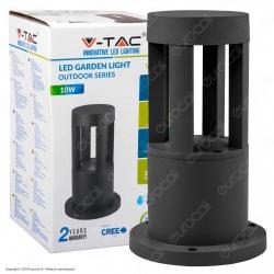 V-Tac VT-830 Lampada LED da Giardino con Fissaggio a Terra 10W Colore Nero IP65 - SKU 8322 / 8323 / 8324