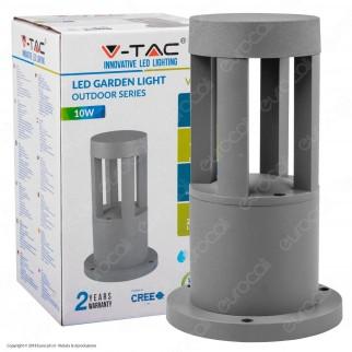 V-Tac VT-830 Lampada LED da Giardino con Fissaggio a Terra 10W Colore Grigio IP65 - SKU 8319 / 8320 / 8321