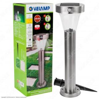 Velamp Malis XL Lampada LED da Terra 2,2W con Pannello Solare e Sensore di Movimento