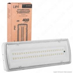 Life Lampada LED d'Emergenza Anti Black Out Grado Protezione IP65 - mod. 39.led0625