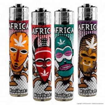 Atomic Festival Accendino Maxi Ricaricabile Fantasia Africa - Serie di 4 Accendini