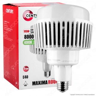 Century Maxima Round 150 Lampadina LED E40 100W High Power Bulb per Campane Industriali
