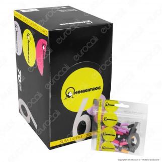 Monkifrog Slim 6mm Lisci Colorati - Box 70 Bustine da 50 Filtri