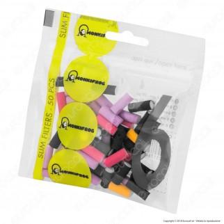Monkifrog Slim 6mm Lisci Colorati - Bustina Singola da 50 Filtri