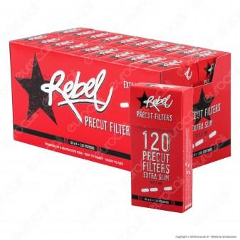 Rebel UltraSlim 5,7mm Ruvidi - Box 20 Scatoline da 120 Filtri