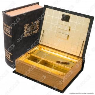 Original Kavatza Bible Spliff Box Stazione di Rollaggio in Legno con Luci LED