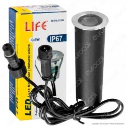Life Punto Luce LED 0,6W Segnapasso da Interramento in Zinco IP67 - mod. 39.9PL0230C / 39.9PL0230N