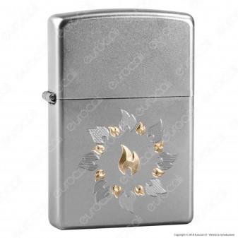 Accendino Zippo Mod. 21192 Ring Of Fire - Ricaricabile Antivento