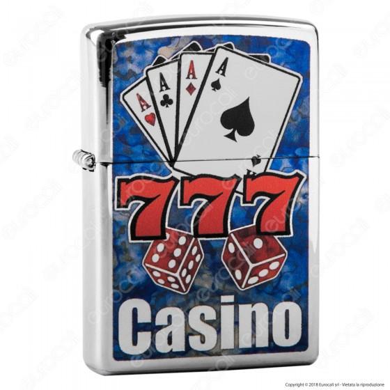 Accendino Zippo Mod. 29633 Fusion Casino - Ricaricabile Antivento