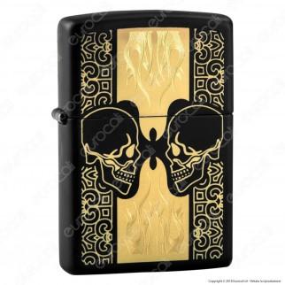 Accendino Zippo Mod. 29404 Skull - Ricaricabile Antivento