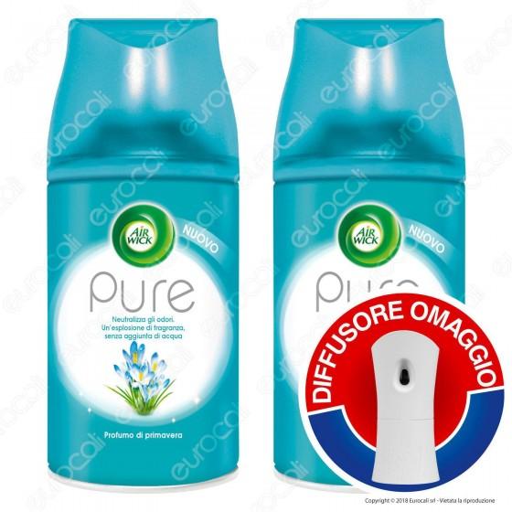 2 Ricariche Air Wick Sofficie Cotone + Diffusore Freshmatic Pure OMAGGIO