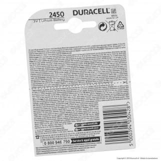 Duracell Lithium CR2450 / DL2450 / ECR2450 Pila 3V - Blister 1 Batteria