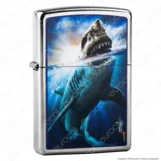 Accendino Zippo Mod. 29568 Shark Attack by Claudio Mazzi - Ricaricabile Antivento
