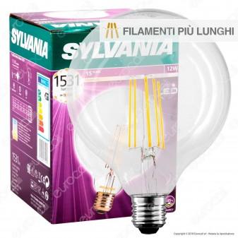 Sylvania ToLEDo Retro Lampadina LED E27 12W Globo G120 Filamento Extra-Lungo